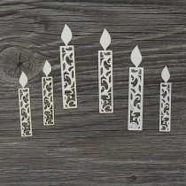 Lepenkový výrez - sviečky č.3