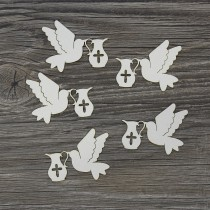 Lepenkový výrez - holubice