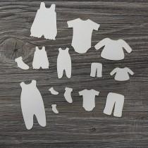 Lepenkový výrez - baby oblečenie