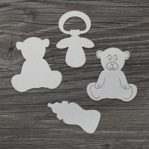 Lepenkový výrez - medvedíky set