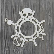 Lepenkový výrez- pirátsky rámik