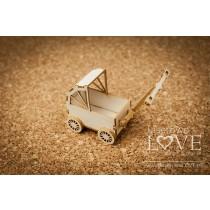 Lepenkový výrerz - Doll stroller 3D