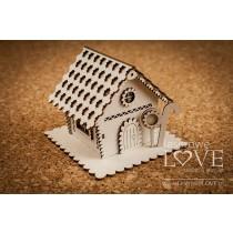 Lepenkový výrerz - Gingerbread House 3D