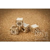 Lepenkový výrez - 3D kocky