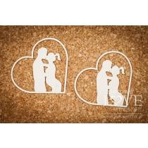 Lepenkový výrez -  Couple in heart