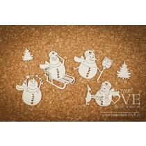 Lepenkový výrez -  Four snowmen