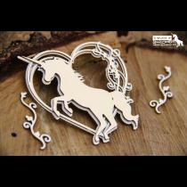 Lepenkový výrez - Hearts unicorns
