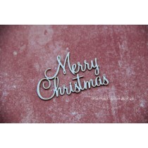 Lepenkový výrez - nápis Merry Christmas