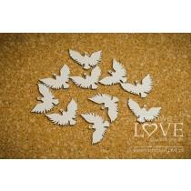 Lepenkový výrez - Pigeons
