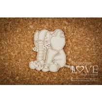 Lepenkový výrez - Plush Elephant