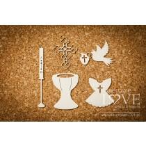 Lepenkový výrez - Set for baptism