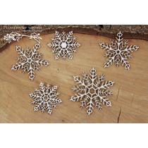 Lepenkový výrez - snowflakes