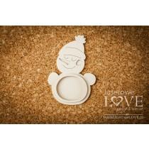 Lepenkový výrez - Snowman shaker box