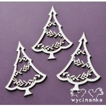 Lepenkový výrez - stromčeky vianočné