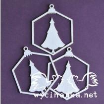 Lepenkový výrez - vianočné gule č.2