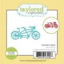 Vyrezávacia šablóna - tandem bicykel