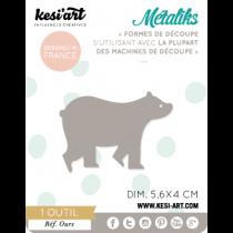 Vyrezávacia šablóna - medveď