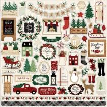 Nálepky - Cozy Christmas