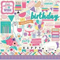 Nálepky - Happy Birthday Girl