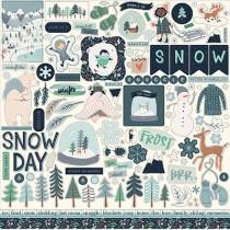 Nálepky - Snow much fun