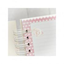 Základ pre zápisník A5 - ružové srdcia