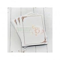 Listy do zápisníka - romantic hnedé
