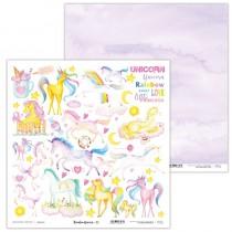 Obojstranný papier - Rainbow Unicorn 01