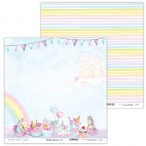 Obojstranný papier - Rainbow Unicorn 04