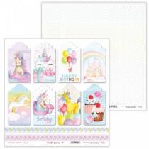 Obojstranný papier - Rainbow Unicorn 07