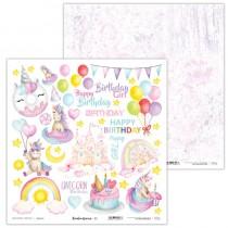 Obojstranný papier - Rainbow Unicorn 11