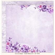Obojstranný papier - Violet Silence 03