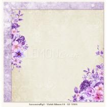 Obojstranný papier -Violet  Silence 04