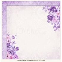 Obojstranný papier - Violet Silence 06