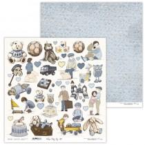 Obojstranný papier - Vintage Baby Boy 07