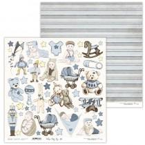 Obojstranný papier - Vintage Baby Boy 10