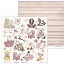 Obojstranný papier - Vintage Baby Girl 10