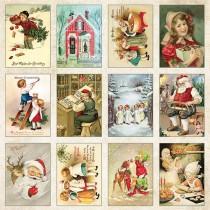 Jednostranný papier - Vintage Christmas 07