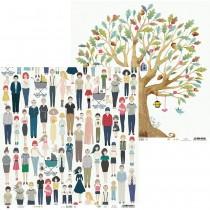 Obojstranný papier - We are family 03