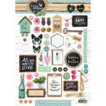 Papierové výseky - Love & Home nr.506