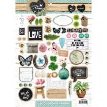 Papierové výseky - Love & Home nr.510