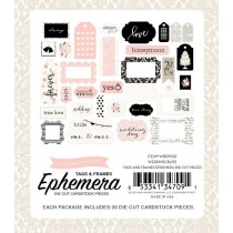 Papierové výseky -  Wedding Bliss Ephemera Frames & Tags
