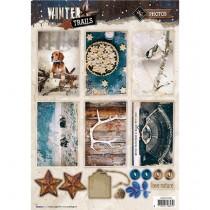 Papierové výseky - Winter Trails  nr.626