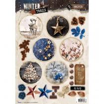 Papierové výseky - Winter Trails nr.627