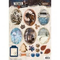 Papierové výseky - Winter Trails nr.629