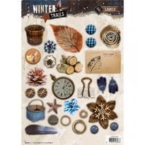 Papierové výseky - Winter Trails nr.631
