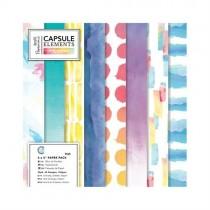 Sada papierov - Capsule - Element pigments 15,3x15,3 cm