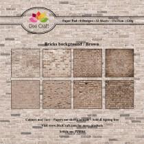 Sada papierov - Bricks Background (15,2x15,2 cm)