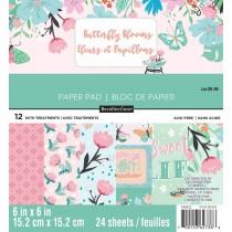 Sada papierov - Butterfly Blooms (15,2x15,2 cm)