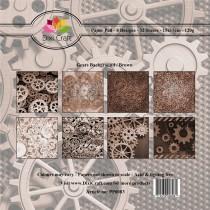 Sada papierov - Gears Background (15,2x15,2 cm)