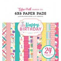 Sada papierov - Happy Birthday Girl  (15,2x15,2 cm)